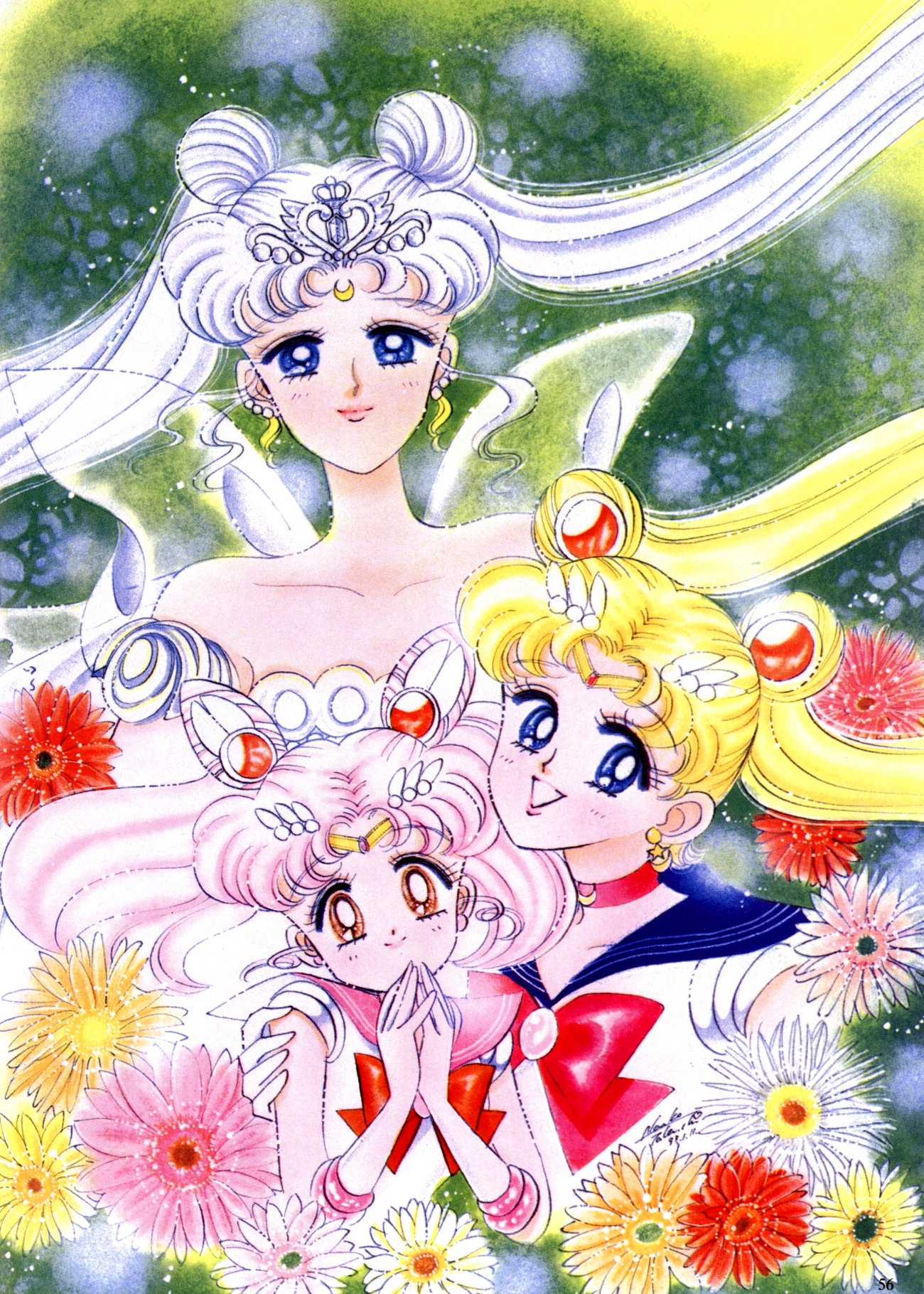 Usagi Tsukino has pink hair? A Sailor Moon mystery!